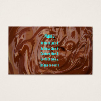 Chocolate Fudge Business Card