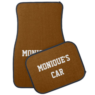 Chocolate  Gift Solid Color Name Car Mat