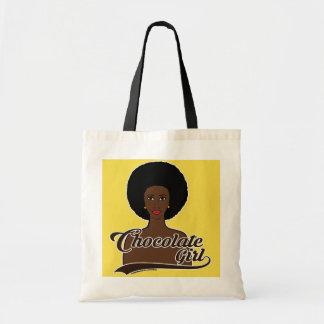 Chocolate Girl Tote Bag
