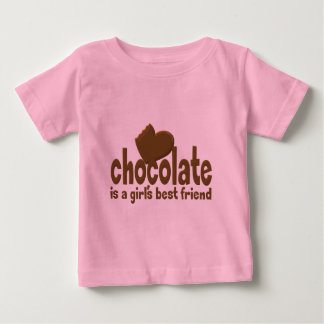 Chocolate Girl's Best Friend Baby T-Shirt