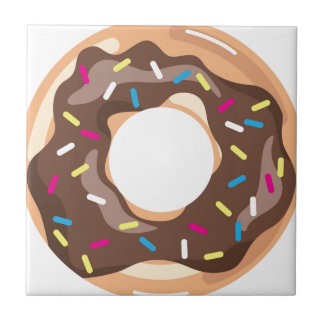 Chocolate Glazed Donut Tile