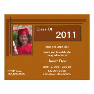 Chocolate Graduation Photo Announcement