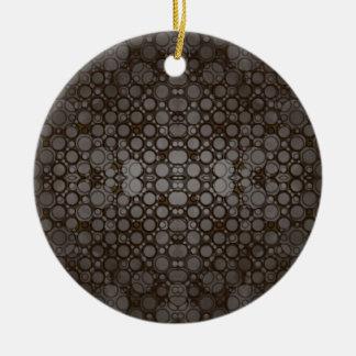 Chocolate Grey Abstract Christmas Ornaments