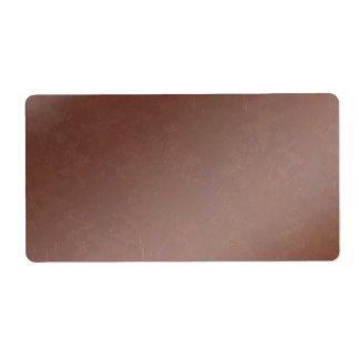 Chocolate Handmade : Shine Sparkle Artistic Shipping Label