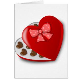 Chocolate Heart Box Card