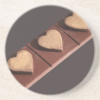 Chocolate Hearts Save the Date Beverage Coasters