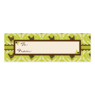 Chocolate Hens Skinny Gift Tag 2 Business Cards