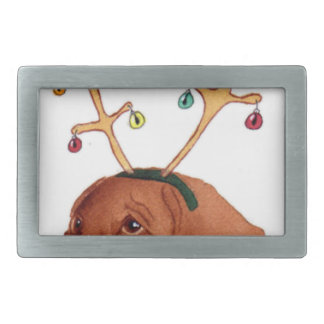 Chocolate Holiday Lab Belt Buckles