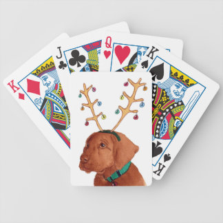 Chocolate Holiday Lab Bicycle Playing Cards
