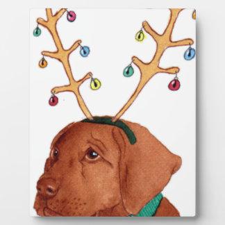 Chocolate Holiday Lab Plaque