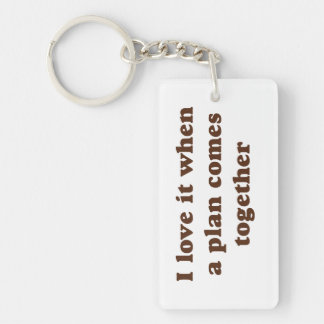 Chocolate I Love It Single-Sided Rectangular Acrylic Keychain