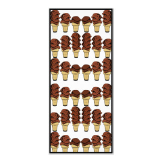 Chocolate Ice Cream Cones Background Rack Card Template