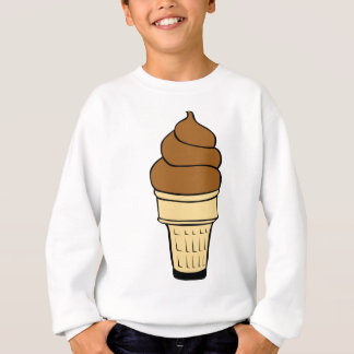 Chocolate Ice Cream Drawing Sweatshirt