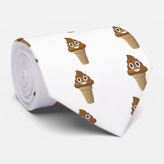 Chocolate Ice cream or poop? Emoji fun tie