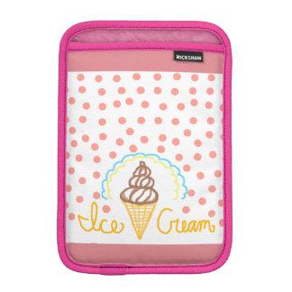 Chocolate Ice Cream Polka Dots Dream iPad Mini Sleeve