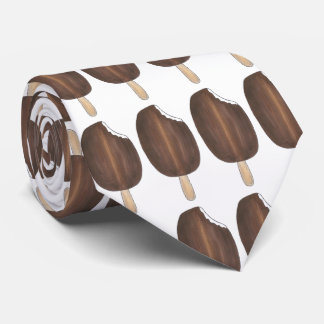 Chocolate Ice Cream Pop Popsicle Print Foodie Tie