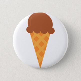 Chocolate Icecream 2 Inch Round Button