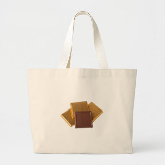 Chocolate in wrapper large tote bag