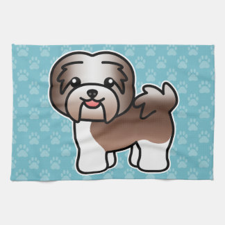 Chocolate Irish Pied Cartoon Havanese Kitchen Towel