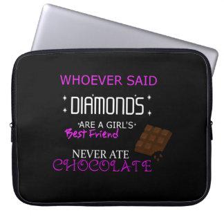 Chocolate Is My Bff Neoprene Laptop Sleeve