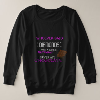 Chocolate Is My BFF Plus Size Sweatshirt