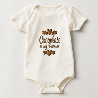 Chocolate is My Passioin Baby Bodysuit