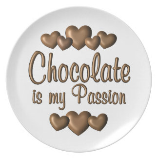 Chocolate is My Passioin Plate