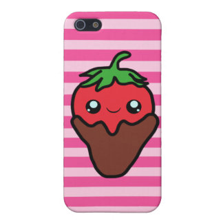 Chocolate Kawaii Strawberry iPhone 5 Cases