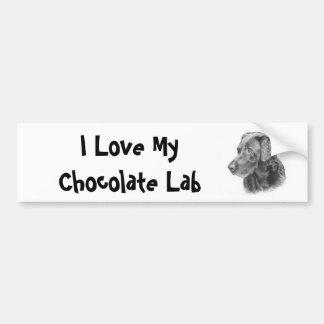 Chocolate Lab Bumper Sticker - Customized