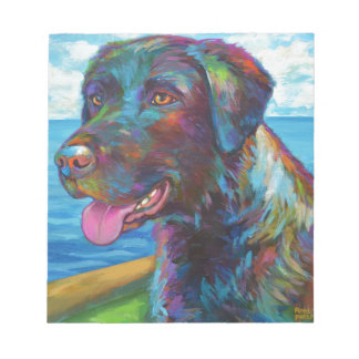 Chocolate Lab By The Seawall Notepad