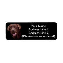 chocolate lab custom return address label