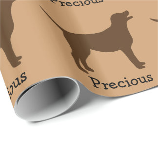 Chocolate Lab Custom Wrapping Paper