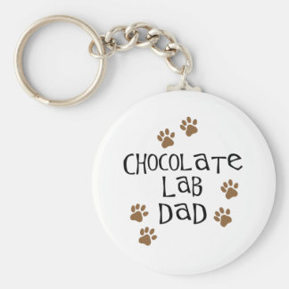 Chocolate Lab Dad Keychain