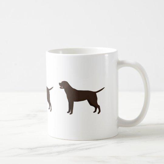 Chocolate Lab - Labrador Retriever Breed Silhouett Coffee Mug