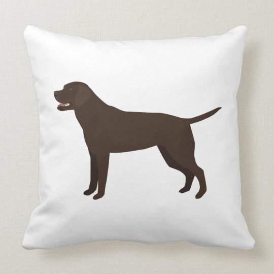 Chocolate Lab - Labrador Retriever Breed Silhouett Throw Pillow
