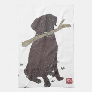 Chocolate Lab, Labrador Retriever, Brown Kitchen Towel