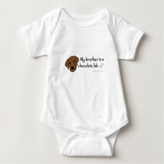 chocolate lab - more breeds baby bodysuit