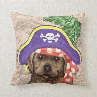 Chocolate Lab Pirate Throw Pillow