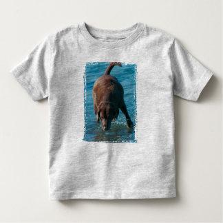 Chocolate Lab playing Toddler T-shirt