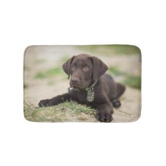 Chocolate Lab Puppy Bath Mat