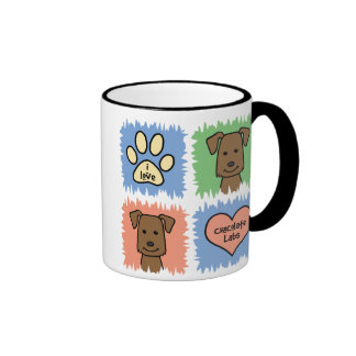 Chocolate Lab Ringer Coffee Mug