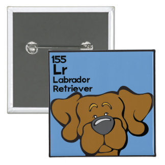Chocolate Lab - The Dog Table 2 Inch Square Button