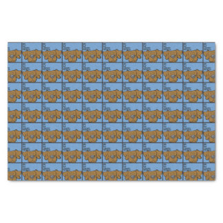 """Chocolate Lab - The Dog Table 10"""" X 15"""" Tissue Paper"""