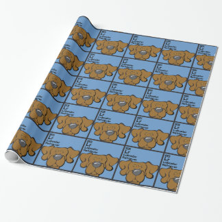 Chocolate Lab - The Dog Table Wrapping Paper
