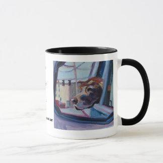 Chocolate Lab WOOF! Mug • Pet Portraits by Elizabe