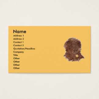 Chocolate Labradoodle Xena Business Cards