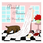 Chocolate Labrador Bridal Shower
