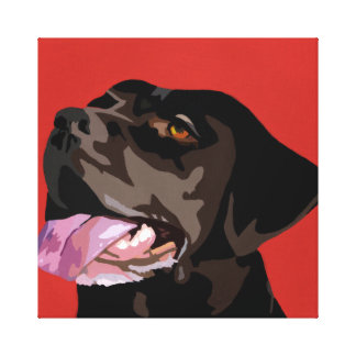 Chocolate Labrador Canvas