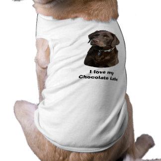 Chocolate Labrador dog photo Dog Shirt