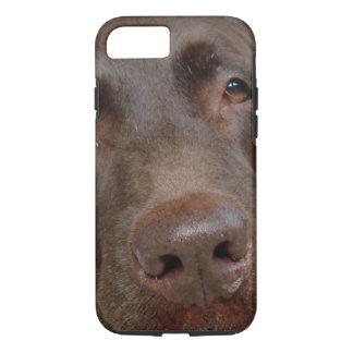 Chocolate Labrador Face iPhone 7 Case